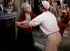 The Waltz was in mothballs by the 1950s and An American in Paris (1951) was eager to make fun of it. Here Gene Kelly mocks the Waltz. Read more about How Classic Movies Use the Conga, the Mambo and the Waltz to Shape the Story http://javabeanrush.blogspot.com/2014/02/CongaMamboWaltzinClassicMovies.html