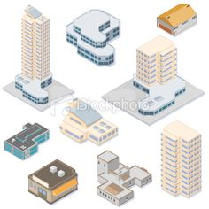 stock-illustration-9554534-isometric-buildings.jpg (380×380)