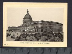 1890's Washington DC US Capitol Building Photo Style Dr Hartman Cure Trade Card | eBay