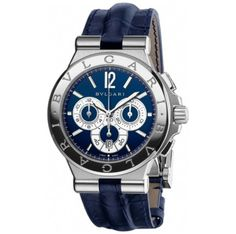 Bulgari Diagono 42mm Steel Chronograph with a blue dial 102060