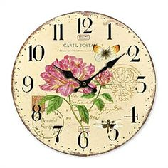 Decorative Clocks - Country Style Wall Clock - Country Floral Wall Clock