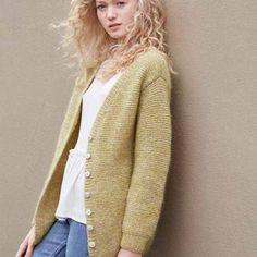 Rillestrikket jakke Sweaters, Cardigans, Comfy, Dresses, Fashion, Damasks, Vestidos, Moda, Fashion Styles