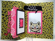 Rectangle Pull Card with Whiskers the Cat