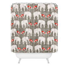 Holli Zollinger Elephant And Umbrella Shower Curtain | DENY Designs Home Accessories