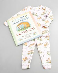Guess How Much I Love You Pajama and Book Set, Infant by Books To Bed at Neiman Marcus.