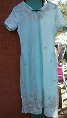 Vintage tunic India Assuit Egyptian Dress &  Embroidered  #Handmade