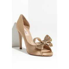 Valentino Jewelery Couture Bow d'Orsay Pumps