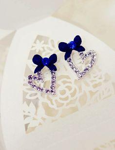 Two Hearts Beat as One Earrings in Blue $30 Enjoy worldwide free shipping on all jewelry items! www.chasingglitters.com