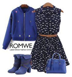 """9# Romwe"" by hazreta-jahic ❤ liked on Polyvore"
