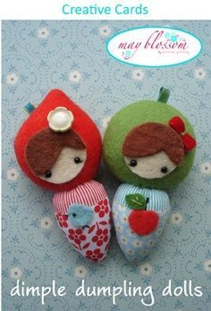 """Dimple Dumpling Dolls"" designed by Simone Gooding for May Blossom."