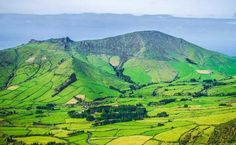Landscape of Flores island, Azores, Portugal