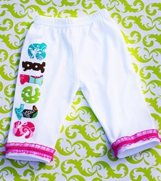 Baby leggings, baby pants, personalized