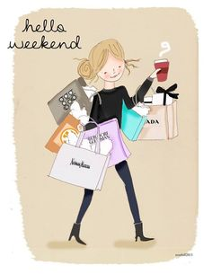 Hello Weekend by The Heather Stillufsen Collection from Rose Hill Designs Hello Weekend, Happy Weekend, Happy Day, Art Quotes, Life Quotes, Inspirational Quotes, Girly Quotes, Motivational, Rose Hill Designs