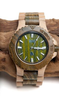 COol Wooden Watches - Not sure Id buy one but you cant deny that theyre freaking hot. This is one of my favorite products on Kembrel: WEWOOD - DATE - BEIGE/ARMY. Check it out and get 20% off for the next 48 hours.  - Who Wooden? Who Wouldn't!