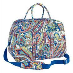 37254fb4e2d Vera Bradley Marina Paisley Grand Traveler Bag Cute Luggage, Travel  Luggage, Travel Bags,