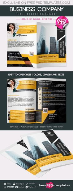 In need of Business Company Bifold Brochure PSD Template? Well, you're in the right place! This template is fully layered and well organized, so it allows you to make changes to your liking and get the perfect presentation in no time. Get it for free and use to create professional advertisement and show your works today!