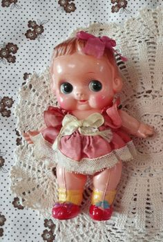 how much if you are selling Tiny Dolls, Old Dolls, Puppet Toys, Doll Toys, Toy Trunk, Kewpie Doll, Nursery Toys, Raspberry Sorbet, Rubber Doll