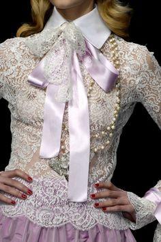 lavendar lace & pearls