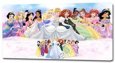 4 Sizes- Disney Princess Canvas Print Home Wall Decor Art Giclee Girls Nursery