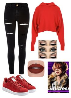 """""""NCT 127 - LIMITLESS"""" by slmsna ❤ liked on Polyvore featuring TIBI, River Island and adidas Originals"""