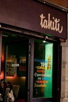 Coctelería Tahití, en Barcelona