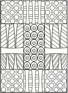 Abstract Coloring Page 7 Free to print PDF file Worksheets