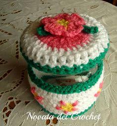 Novata del Crochet: Forros para frascos y tazas