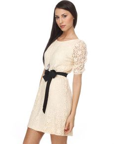 love it...spritz cookie ivory lace dress