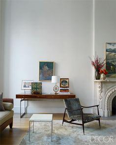 Remodelista's Francesca Connolly's Home - Brooklyn Interior Design - ELLE DECOR period fireplace