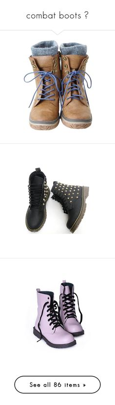"""""""combat boots ✿"""" by danielle13malik ❤ liked on Polyvore featuring shoes, boots, ankle booties, zapatos, botas, sapatos, military style boots, army boots, high top boots and black army boots"""