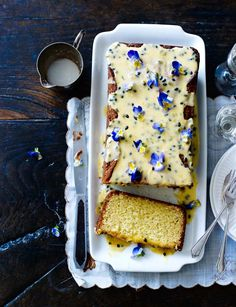 White chocolate loaf cake with passion fruit drizzle | This gorgeous loaf cake from Miranda Gore Browne is sure to impress anyone - and it tastes delicious too!