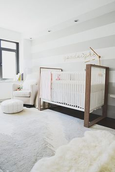 crib! love the style. no white though. use metal for the frame then wood for the crib/sleeping part.