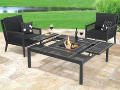 the outdoor convertible coffee to dining table hammacher schlemmer throughout patio coffee table converts to dining table Outdoor Coffee Tables, Modern Coffee Tables, Outdoor Seating, Outdoor Dining, Outdoor Decor, Coffe Table, Outdoor Ideas, Patio Table, Dining Table
