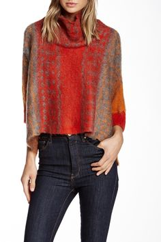 Marled Splatter Dolman Sweater by Vertigo on @HauteLook