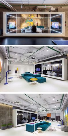 SOESTHETIC GROUP have designed the Ukrainian offices for Playtech, a online gaming software company. Creative Office Space, Office Space Design, Modern Office Design, Workplace Design, Office Interior Design, Office Designs, Corporate Design, Corporate Interiors, Office Interiors