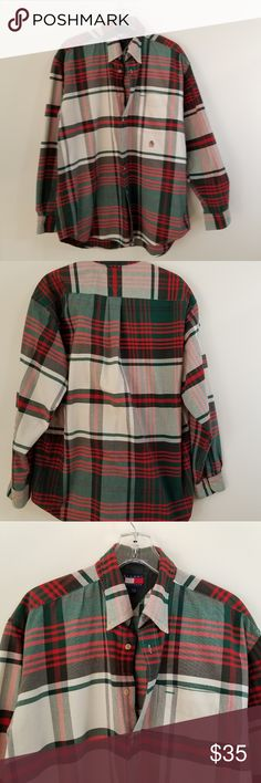 d425c55c110 Tommy Hilfiger Mens Size Large cotton plaids L Tommy Hilfiger Mens Size  Large 100% cotton