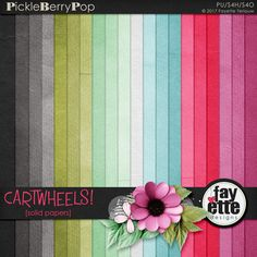 Cartwheels Solid Papers