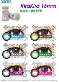 Kirakira Colour Contact Lenses KiraKira color circle lenses are designed to blend naturally with your original eye color. It's lens extravagantly demonstrate the big eye effect effectively. Purple Contacts, Cat Eye Contacts, Colored Eye Contacts, Halloween Contacts, Colored Eye Contact Lenses, Soft Contact Lenses, Zebra Nails, Red Nails, Cosplay Contacts