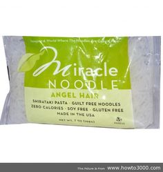 Excellent Miracle Noodle Shirataki Angel Hair Pasta To Help Lose Weight