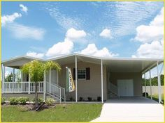 Love that roofline!  Palm Harbor Mobile Home For  Sale  in Lakeland, FL
