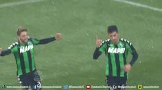 football goal gol calcio sassuolo esultanza football player pellegrini sassuolocalcio via diggita