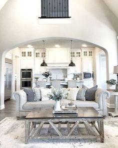 05 Cozy Modern Farmhouse Style Living Room Decor Ideas