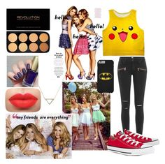"""""""#133"""" by potato-cupcake on Polyvore featuring Paige Denim, Banana Republic and Converse"""