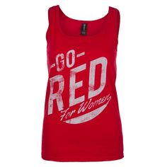 Fashion tank to support Go Red For Women.