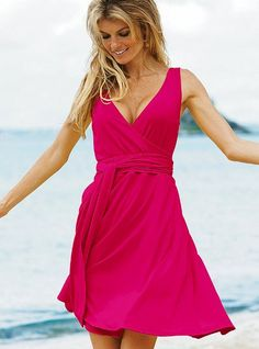 victoria secret daytime jersey sleveless wrap dress <3<3