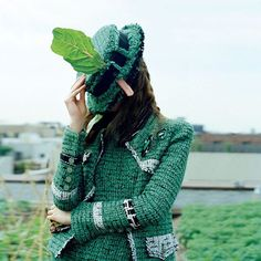 """""""Inspsired by Pantone to go green in 2017. Photographed by Tim Walker, styled by Phyllis Posnick, Vogue, November 2010. """""""