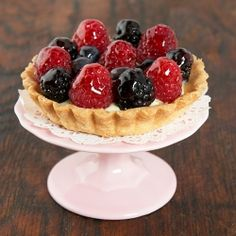 Fruit Tarts - crispy, tender sweet pastry, irresistible light cream topped with sweet berries and cherry jelly glaze.