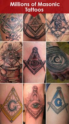freemason tattoo ideas | Masonic Tattoo Catalogue - Freemasonary Tattoo Styles Designs & Art ...