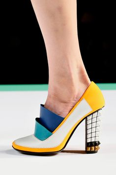 Pretty cool shoe, but they could've laid off with the studs. Fendi Spring 2013 RTW