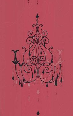 Pink And Black Chandelier Wallpaper